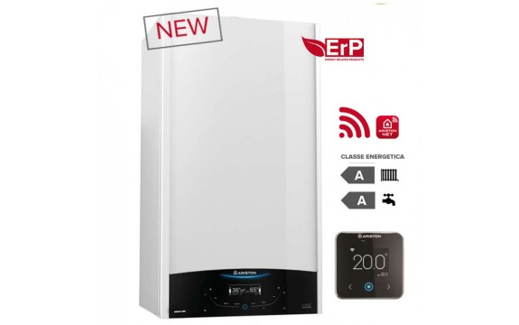 CALDAIA ARISTON a condensazione GENUS ONE NET 24 kW METANO o GPL completa di kit per scarico fumi WI-FI Ready - NEW ErP