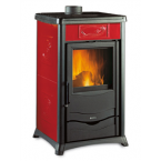 STUFA A LEGNA IN GHISA LA NORDICA EXTRAFLAME mod. ROSSELLA PLUS LIBERTY 8 kW bordeaux
