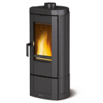 STUFA A LEGNA IN GHISA SMALTATA LA NORDICA EXTRAFLAME mod. CANDY 7,2 kW antracite